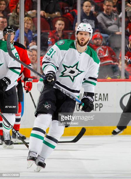 Tyler Seguin of the Dallas Stars in action against the New Jersey Devils on March 26 2017 at Prudential Center in Newark New Jersey The Stars...