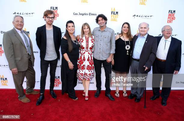 Tyler Strickland Gale Anne Hurd Valerie RedHorse Mohld Ken Schneider Mark Downing and guests attend the screening of 'Mankiller' during the 2017 Los...