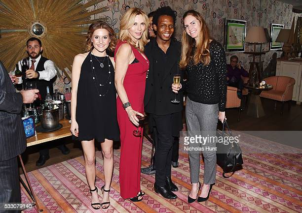 Tyler Sutherland Carol Brodie Carlos Greer and Elissa Lumley attend Disney's 'Alice Through The Looking Glass' New York Screening Dinner at Crosby...