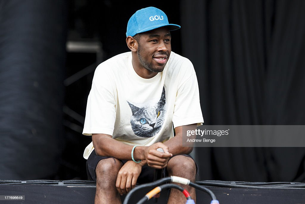 Tyler The Creator of EarlWolf performs on stage on Day 3 of Leeds Festival 2013 at Bramham Park on August 25, 2013 in Leeds, England.