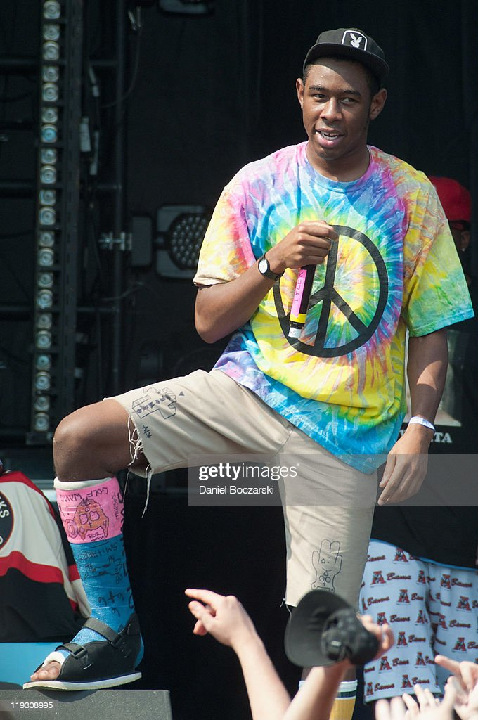 Tyler the Creator of Odd Future Wolf Gang Kill Them All performs ...