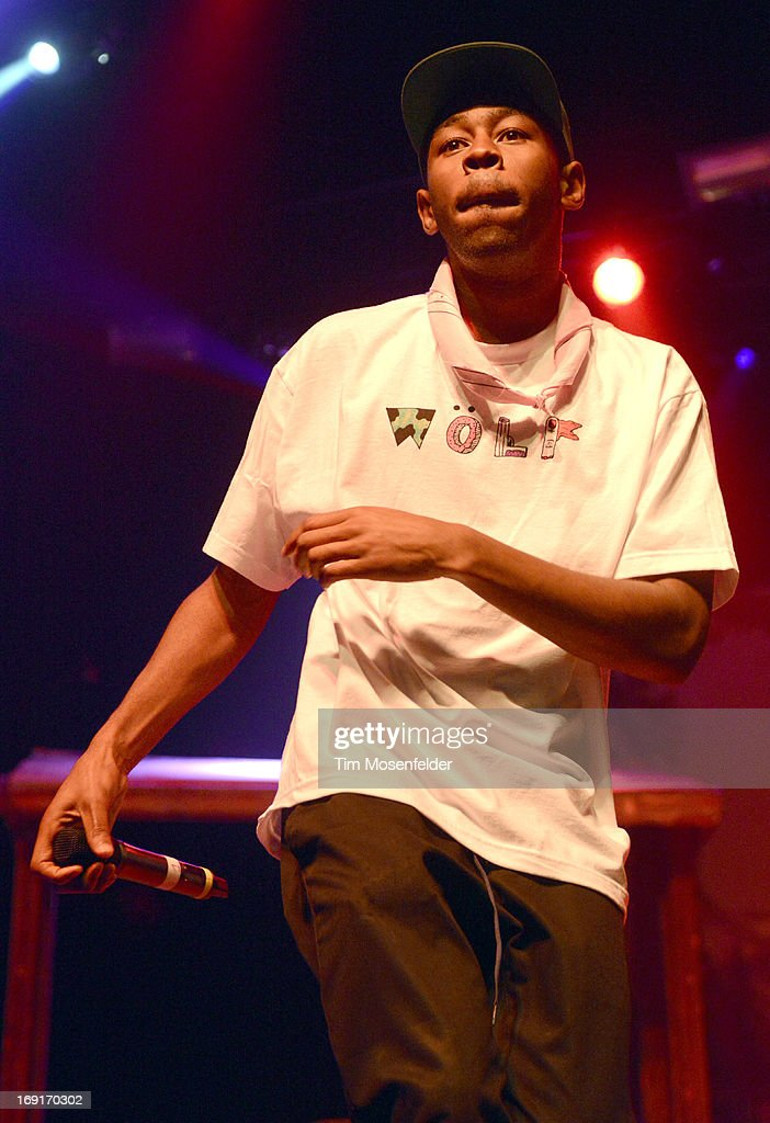 Tyler, The Creator of Tyler, The Creator & Earl Sweatshirt performs in support of Tyler's 'The Wolf' release at The Regency Ballroom on May 20, 2013 in San Francisco, California.