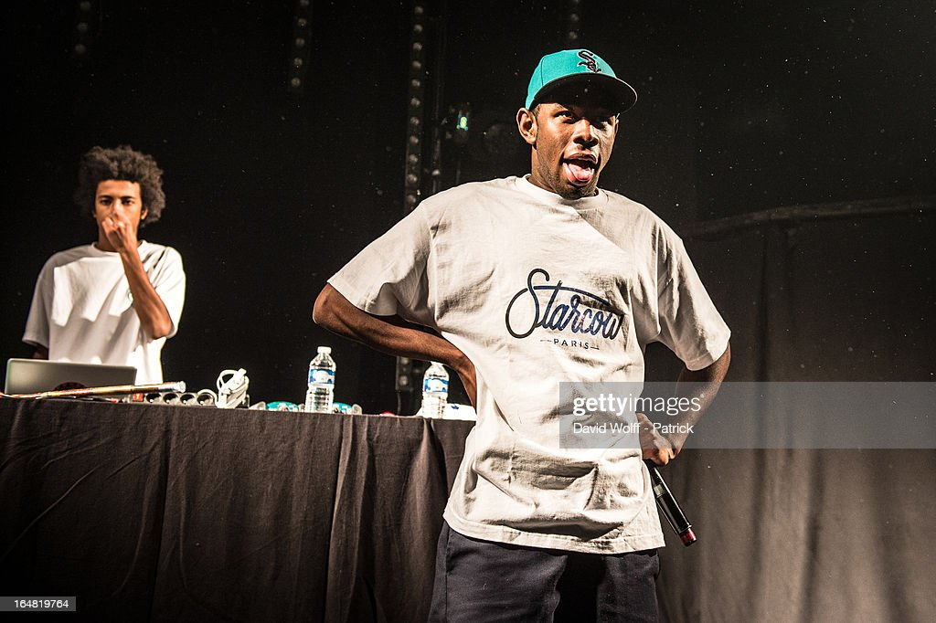 Tyler, The Creator performs at Le Trabendo on March 28, 2013 in Paris, France.