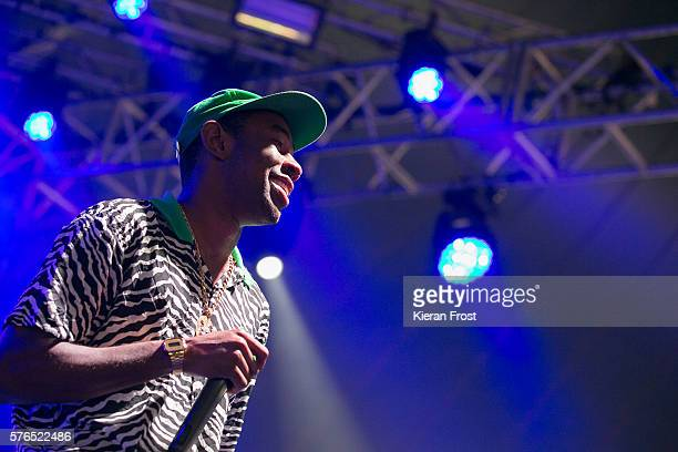 Tyler The Creator performs at Longitude Festival at Marlay Park on July 15 2016 in Dublin Ireland