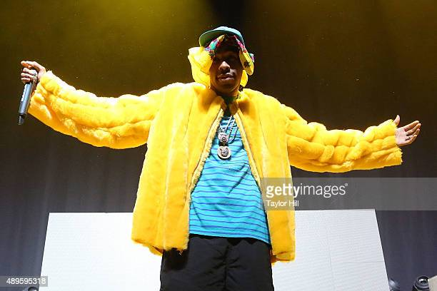 Tyler the Creator performs at The Theater at Madison Square Garden on September 22 2015 in New York City