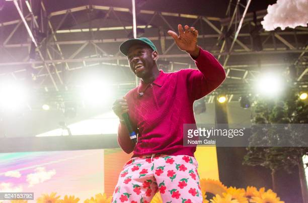 Tyler The Creator performs during the 2017 Panorama Music Festival Day 1 at Randall's Island on July 28 2017 in New York City