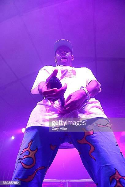 Tyler the Creator performs during the second day of the Bonnaroo Music and Arts Festival on June 10 2016 in Manchester Tennessee