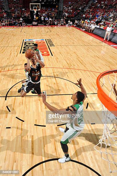 Tyler Ulis of Phoenix Suns shoots the ball during the game against the Boston Celtics during the 2016 NBA Las Vegas Summer League on July 10 2016 at...