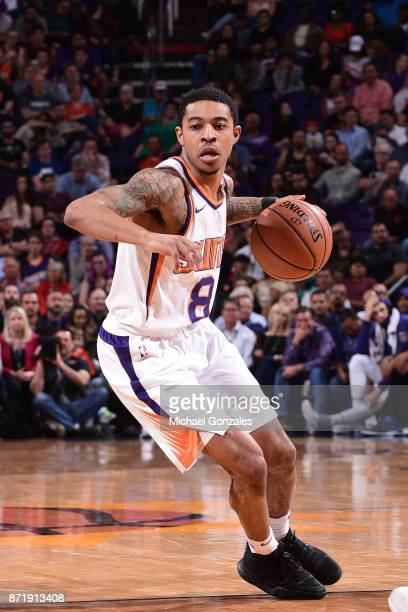 3de97de76 ... Tyler Ulis of the Phoenix Suns handles the ball against the Miami Heat  on November ...