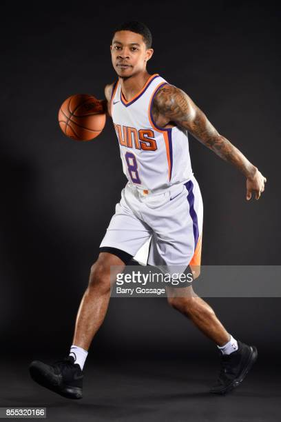 Tyler Ulis of the Phoenix Suns poses for a portrait at the Talking Stick Resort Arena in Phoenix Arizona NOTE TO USER User expressly acknowledges and...