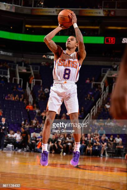 Tyler Ulis of the Phoenix Suns shoots the ball during the preseason game against the Brisbane Bullets on October 13 2017 at Talking Stick Resort...