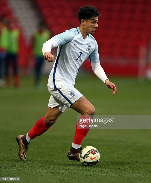 Tyler Walker of England during the U20 International Friendly match between England and Canada at the Keepmoat Stadium on March 27 2016 in Doncaster...