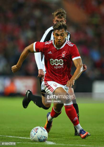 Tyler Walker of Nottingham Forest in action during a preseason friendly match between Notts County and Nottingham Forest at Meadow Lane on July 19...