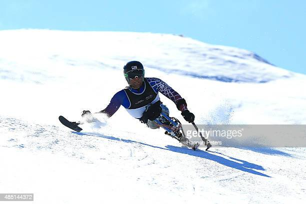 Tyler Walker of the United States competes in the Men Giant Slalom Sitting LW121 in the IPC Alpine Adaptive Giant Slalom Southern Hemisphere Cup...