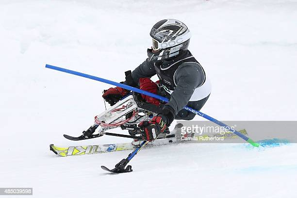 Tyler Walker of the United States competes in the Men Slalom Sitting LW121 in the IPC Alpine Adaptive Slalom Southern Hemisphere Cup during the...