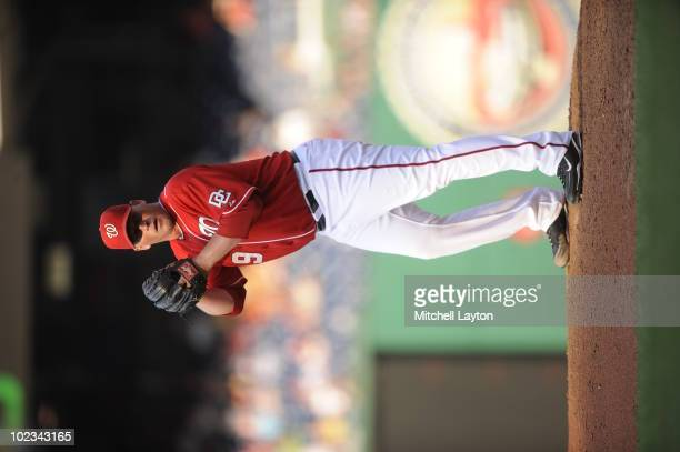 Tyler Walker of the Washington Nationals pitches during a baseball game against the Chicago White Sox on June 19 2010 at Nationals Park in Washington...