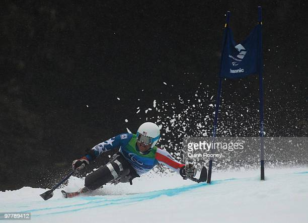 Tyler Walker of USA competes in the Men's Sitting Giant Slalom during Day 5 of the 2010 Vancouver Winter Paralympics at Whistler Creekside on March...