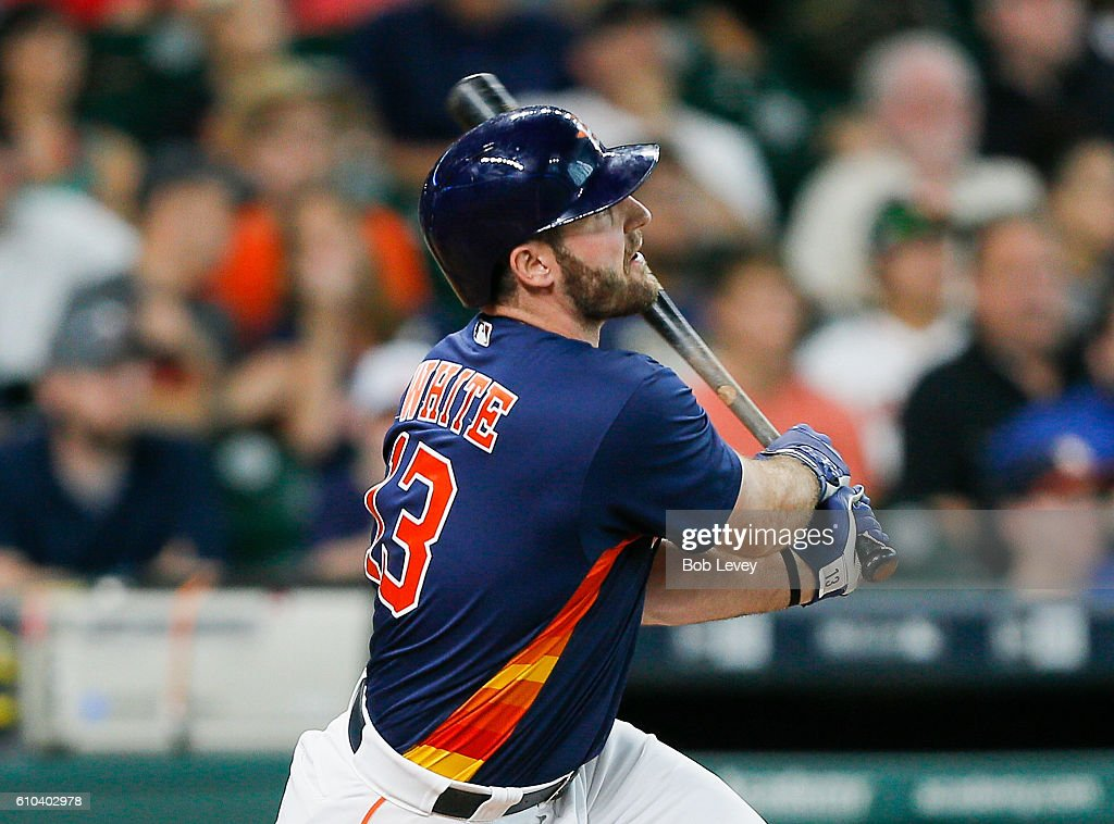 Tyler White 13 Of The Houston Astros Hits A Home Run In Seventh Inning