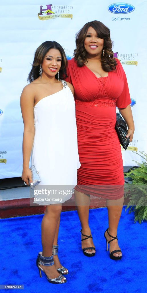 Tyler Whitley (L) and her aunt, actress and comedian Kym Whitley, arrive at the 11th annual Ford Neighborhood Awards at the MGM Grand Garden Arena on August 10, 2013 in Las Vegas, Nevada.