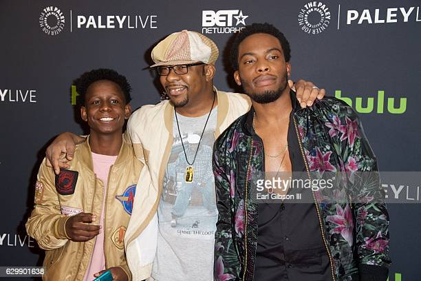 Tyler Williams Bobby Brown and Woody McClain attend 'The New Edition Story' at The Paley Center for Media on December 14 2016 in Beverly Hills...