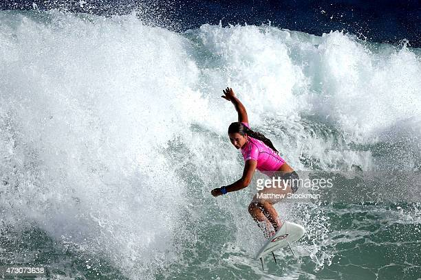 Tyler Wright of Australia surfs during Round 1 Heats at the Oi Rio Pro on May 12 2015 in Rio de Janeiro Brazil