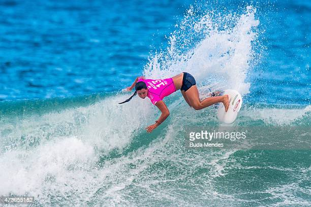 Tyler Wright of Australia surfs during the Round 3 of the Oi Rio Pro on May 16 2015 in Rio de Janeiro Brazil
