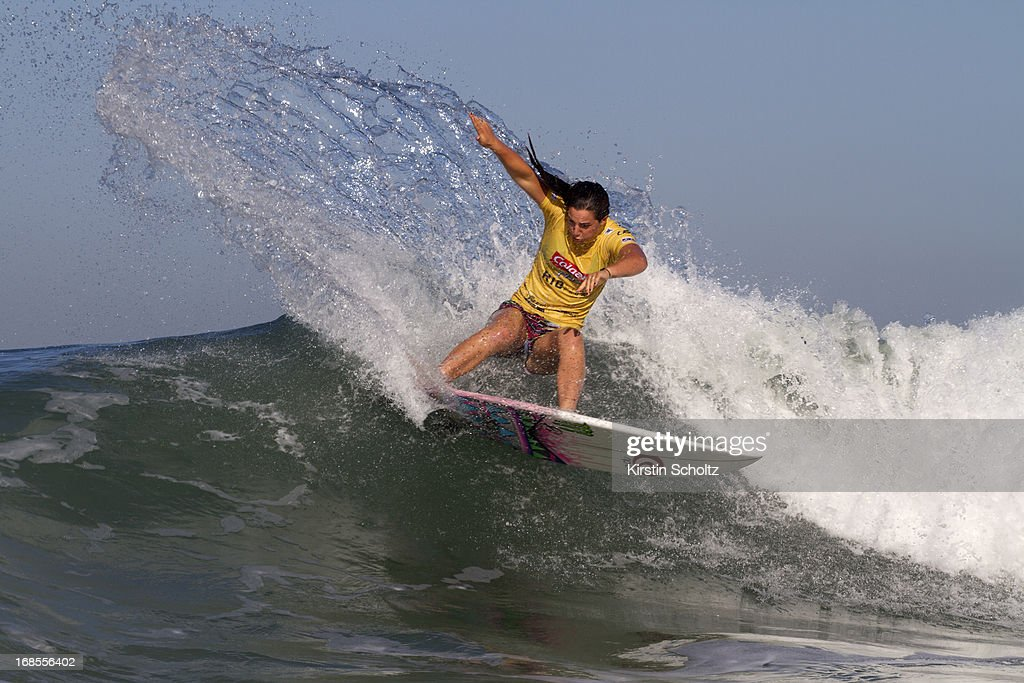<a gi-track='captionPersonalityLinkClicked' href=/galleries/search?phrase=Tyler+Wright&family=editorial&specificpeople=212765 ng-click='$event.stopPropagation()'>Tyler Wright</a> of Australia surfs to victory at the Colgate Plax Girls Pro on May 11, 2013 in Rio de Janeiro, Brazil.
