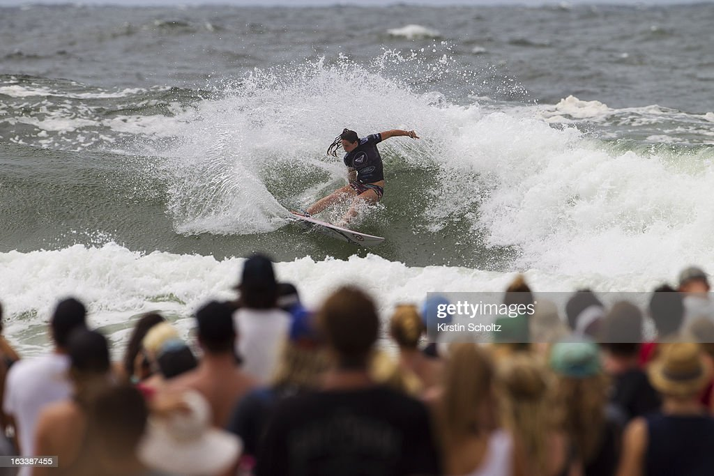<a gi-track='captionPersonalityLinkClicked' href=/galleries/search?phrase=Tyler+Wright&family=editorial&specificpeople=212765 ng-click='$event.stopPropagation()'>Tyler Wright</a> of Australia surfs to victory during the Final of the Roxy Pro where she finished runner up on March 9, 2013 in Gold Coast, Australia.