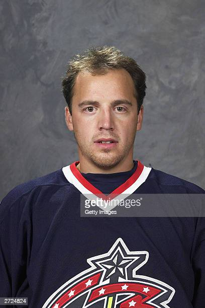 Tyler Wright of the Columbus Blue Jackets poses for a portrait on September 15 2003 at Nationwide Arena in Columbus Ohio