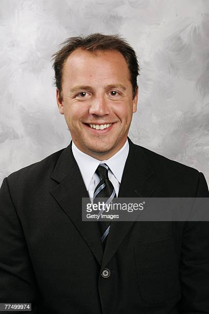 Tyler Wright of the Columbus Blue Jackets poses for his 2007 NHL headshot at photo day in Columbus Ohio
