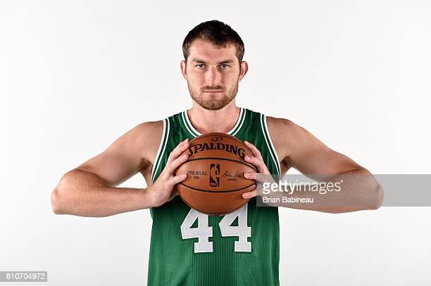 Tyler Zeller of the Boston Celtics poses for a portrait during 20162017 Boston Celtics Media Day at TD Garden on September 26 2016 in Boston...