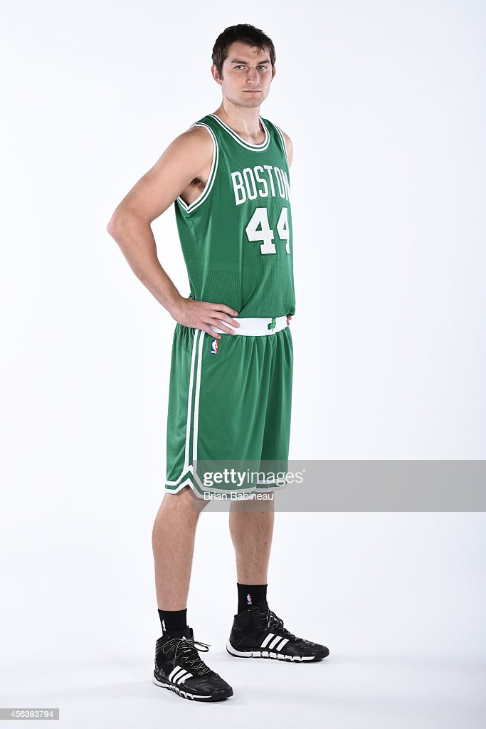 Tyler Zeller of the Boston Celtics poses for a portrait on September 29 2014 at the Boston Cetlics Training Center at Healthpoint in Waltham...
