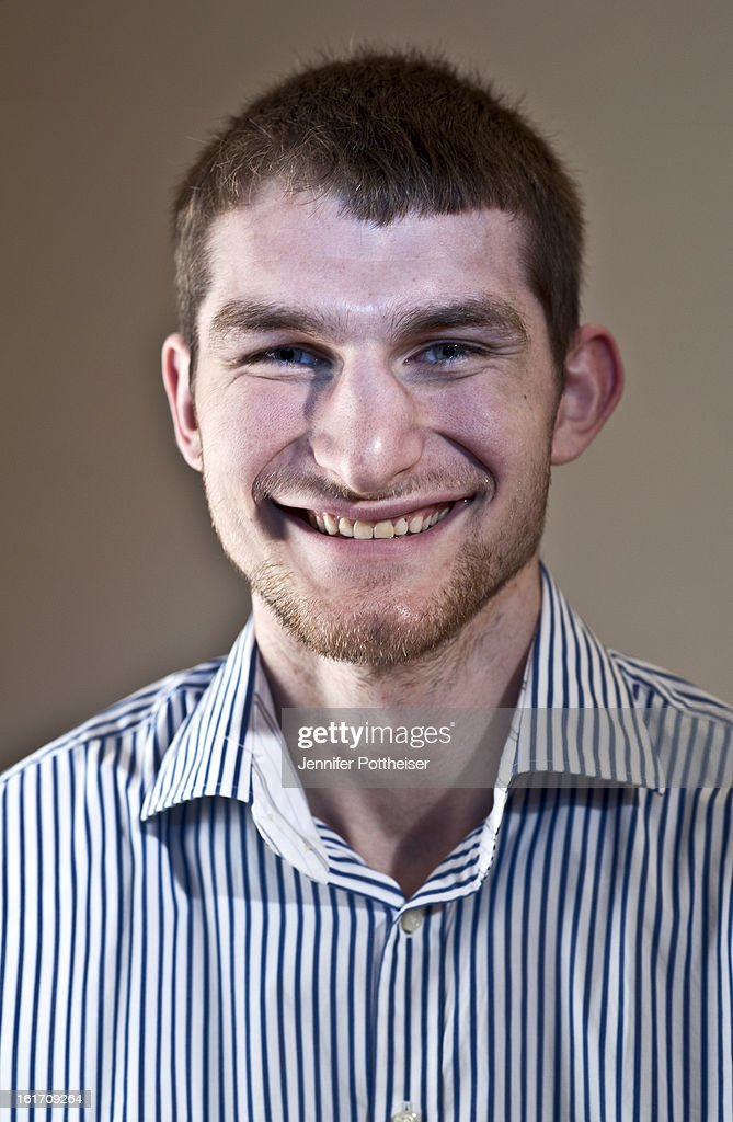 Tyler Zeller #40 of the Cleveland Cavaliers poses for portraits during the NBAE Circuit as part of 2013 All-Star Weekend at the Hilton Americas Hotel on February 14, 2012 in Houston, Texas.
