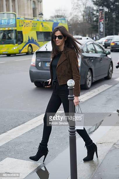 tylist Barbara Martelo on day 3 of Paris Haute Couture Fashion Week Spring/Summer 2015 on January 27 2015 in Paris France