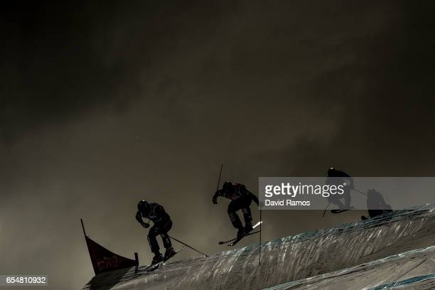 Tyller Wallasch of the United States Christopher Delbosco of Canada Armin Neiderer of Switzerland and Egor Korotkov of Russia compete in the Men's...