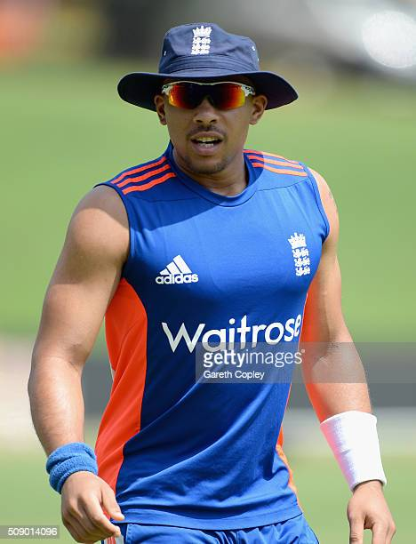 Tymal Mills of England during a nets session at Supersport Park on February 8 2016 in Centurion South Africa