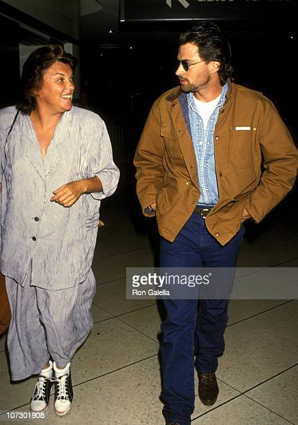 Tyn Daly and Tim Daly during Tyne Daly and Tim Daly Sighted at Los Angeles International Airport May 5 1993 at Los Angeles International Airport in...