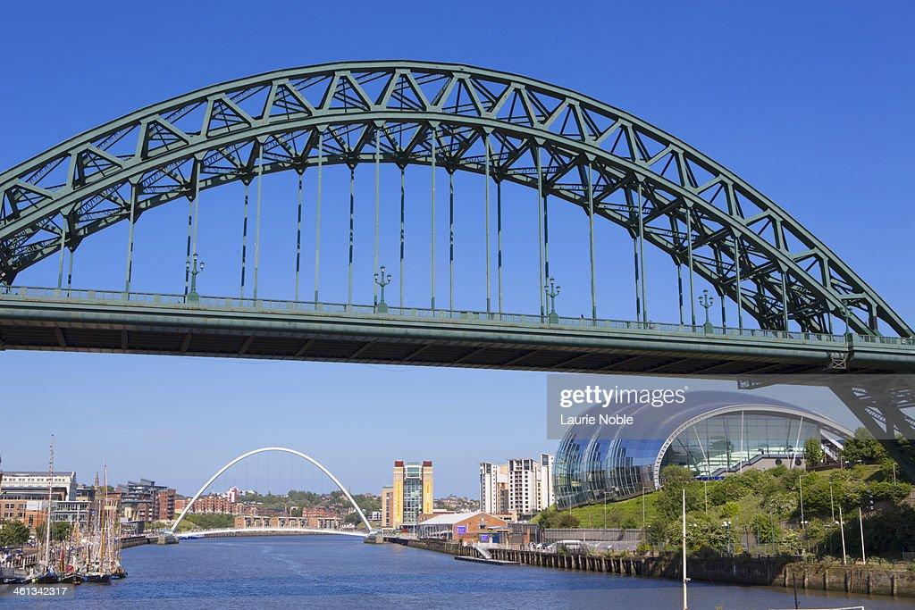 Tyne and Millenium bridge, The Sage, River Tyne