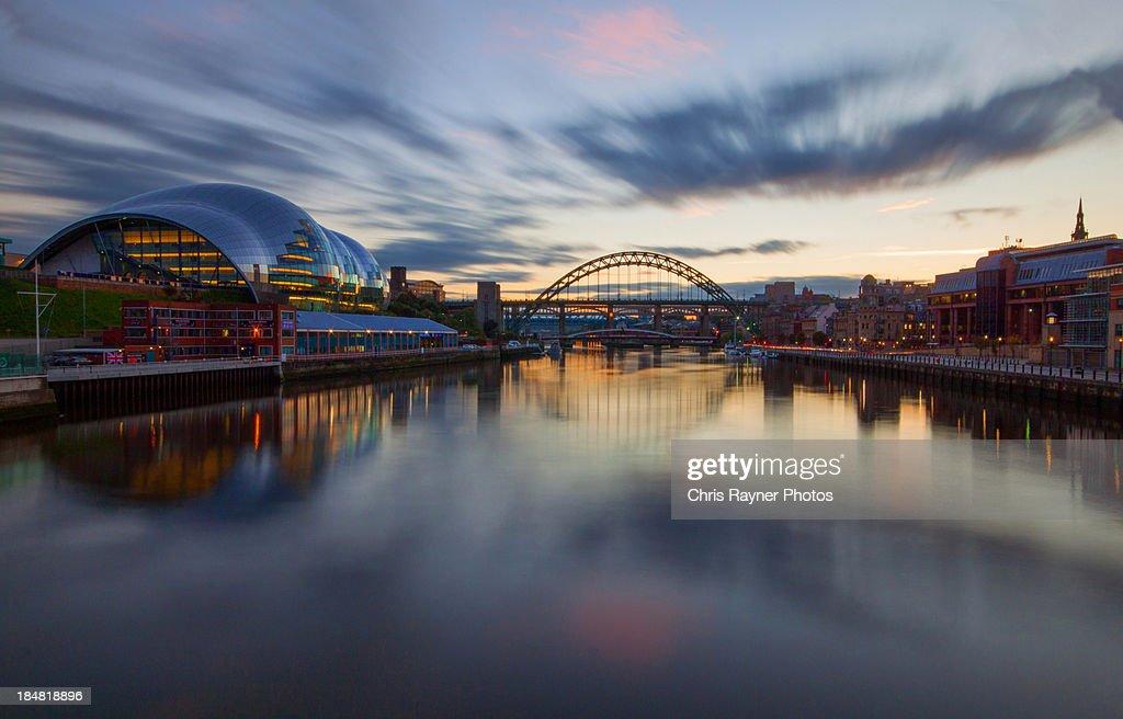 Tyne Bridge and Sage Sunset