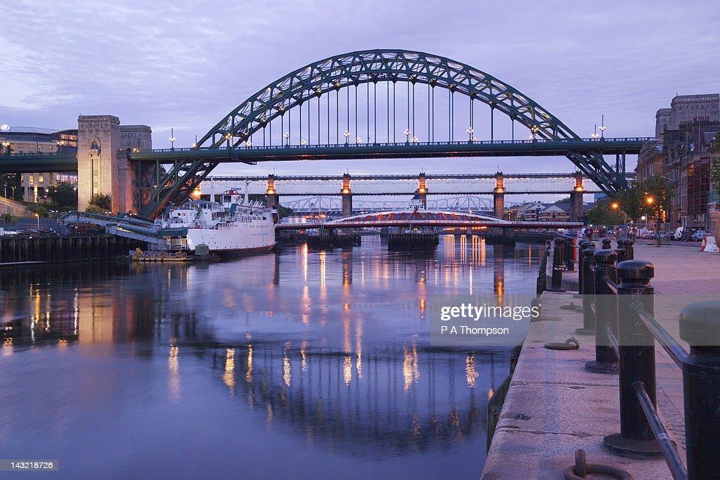 Tyne Bridge, Newcastle on Tyne, Tyne and Wear, England : Stock Photo