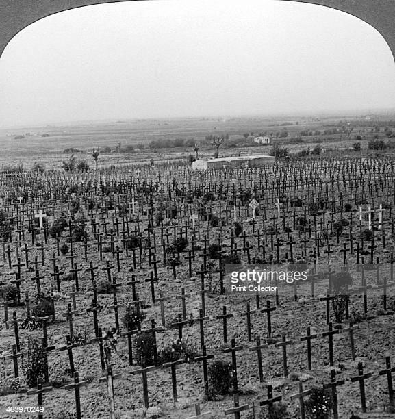 Tyne Cot Cemetery Passchendaele Ridge Belgium World War I c19181919 The cemetery stands on the spot Where 20000 British soldiers fell attacking...