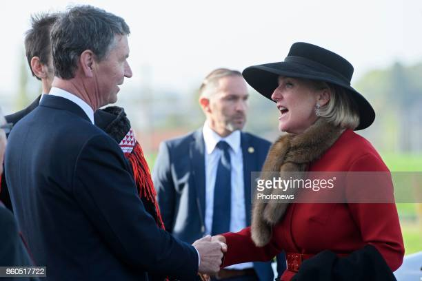 Prince William and Princess Astrid attend New Zealand commemorations of the 100th anniversary of the Battle of Passchendaele Princess Astrid shaking...