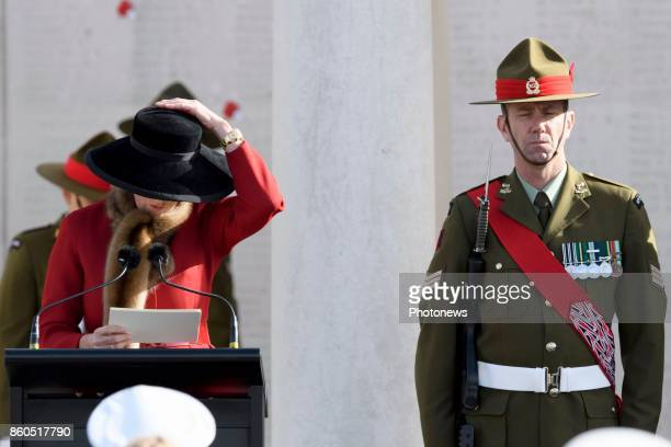 Prince William and Princess Astrid attend New Zealand commemorations of the 100th anniversary of the Battle of Passchendaele Princess Astrid pictured...