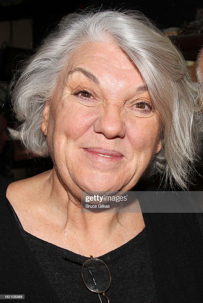<a gi-track='captionPersonalityLinkClicked' href=/galleries/search?phrase=Tyne+Daly&family=editorial&specificpeople=207055 ng-click='$event.stopPropagation()'>Tyne Daly</a> pose backstage at 'Ragtime' on Broadway at Avery Fisher Hall on February 18, 2013 in New York City.