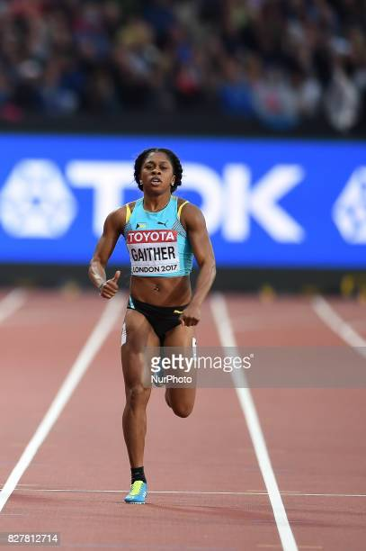 Tynia GAITHER Bahamas during 200 meter heats in London at the 2017 IAAF World Championships athletics on August 8 2017