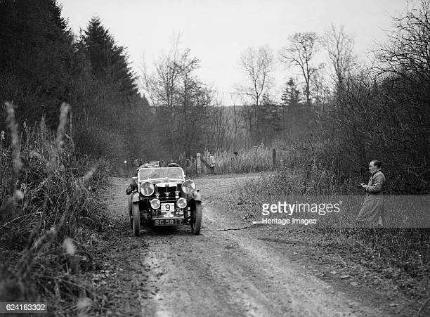 M type competing in the Great West Motor Club Thatcher Trophy 1938 Artist Bill BrunellMG M 1929 847 cc Vehicle Reg No SC5817 Event Entry No 9...