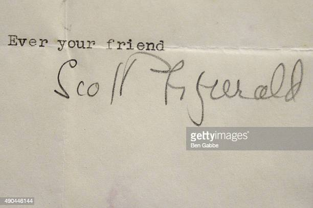 Typed letter signed by F Scott Fitzgerald one month before his death at the Rare Titanic Artifacts from Lifeboat No 1 Other Historic Autographs...