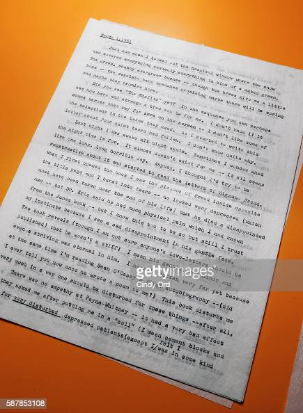 A typed letter written by Marilyn Monroe on display as Julien's Auctions shows select neverbeforeseen pieces from the estate of Lee Strasberg on...