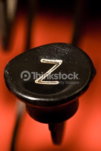 typewriter button Z : Stock Photo