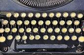 Vintage Portable Typewriter Keyboard Buttons